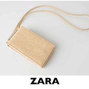ZARA Animal Print Crossbody Cellphone Case